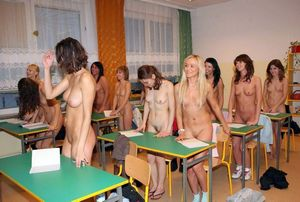 Naked girls posing